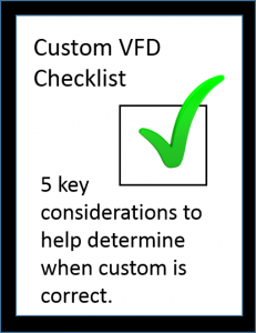 Custom variable frequency drive checklist